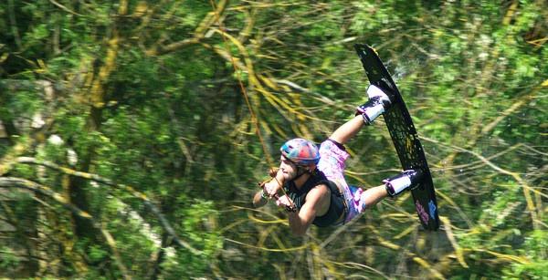 flying waterski-er by petemasty