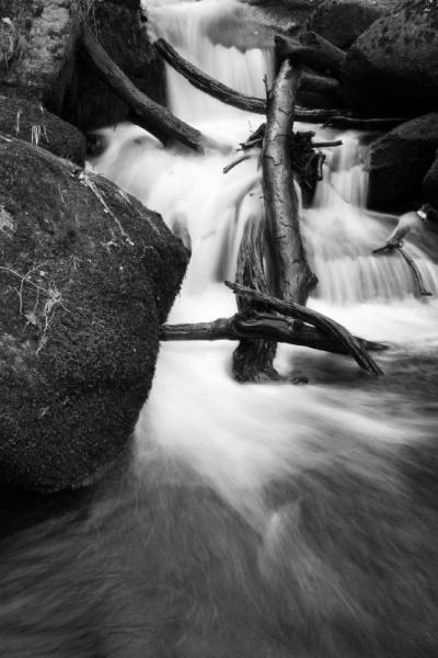Padley Gorge black and white by johnflindt