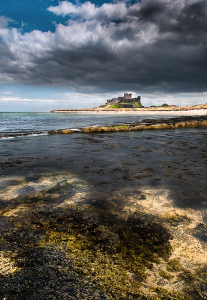 Stormy Bamburgh by stormcrowuk