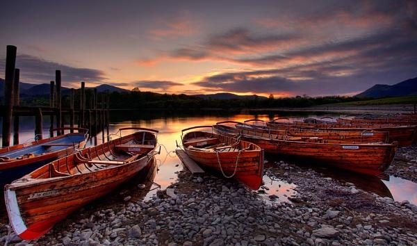 Derwentwater boats II by treblecel