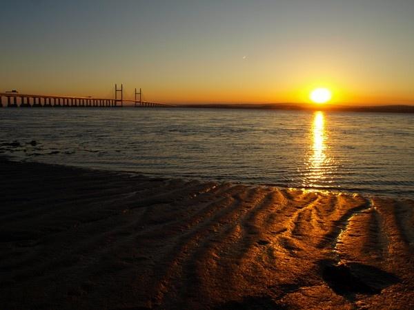 Bridge, Plane, Sunset by expatscot