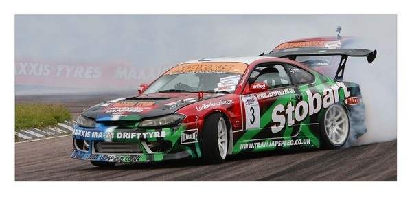 Shane Lynch from Boyzone driving his Stobart Pro-Drifter to Victory (LYDDEN JUNE 20100 by philhad