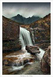 Waterfall beneath Bla Bheinn, Isle of Skye