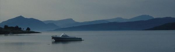 Motorboat in Loch na Cairidh by Sasanach