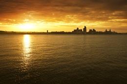 Sunrise over Liverpool too