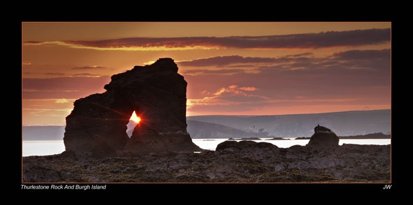 Thurlestone Rock and Burgh Island by jer