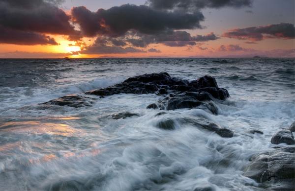As the sun sets by treblecel