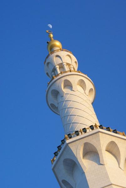Minaret & Moon by AneesKarakkad
