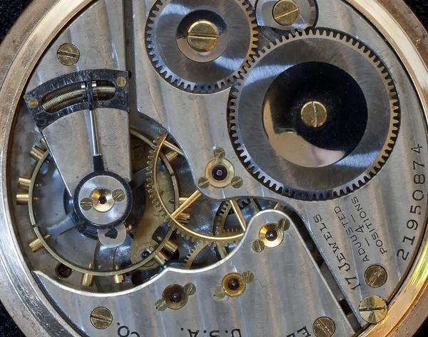 Elgin Pocket Watch Movement by jbsaladino