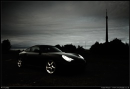 Emley Mast and a 911 Turbo