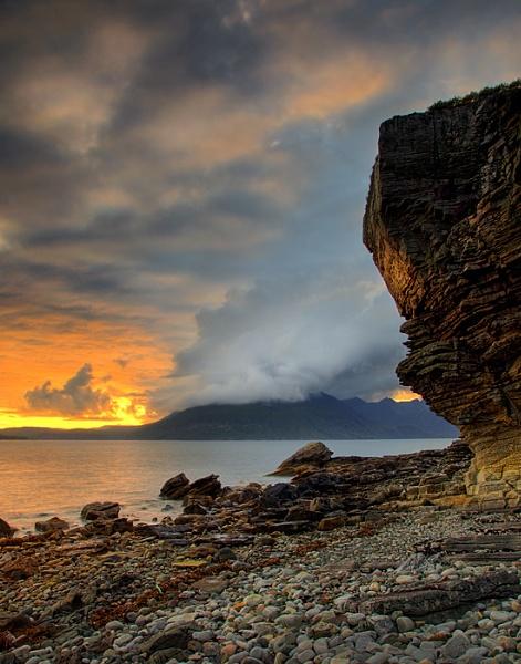 Elgol sunset by treblecel