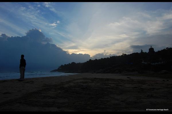 Beach at Travancore Heritage Resort, Kovalam by johnMathew
