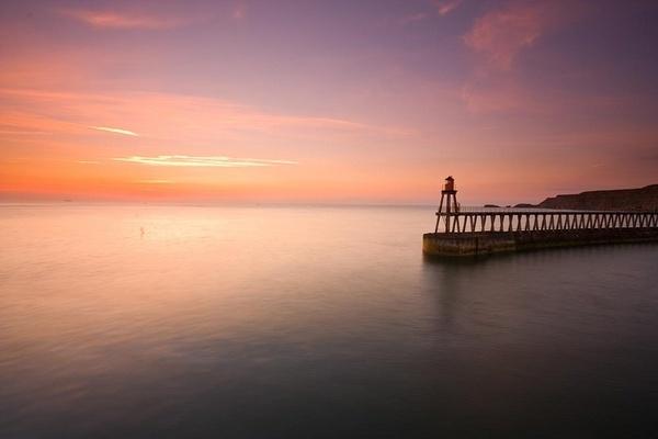 Pastel Pier Dawn by IanBurton
