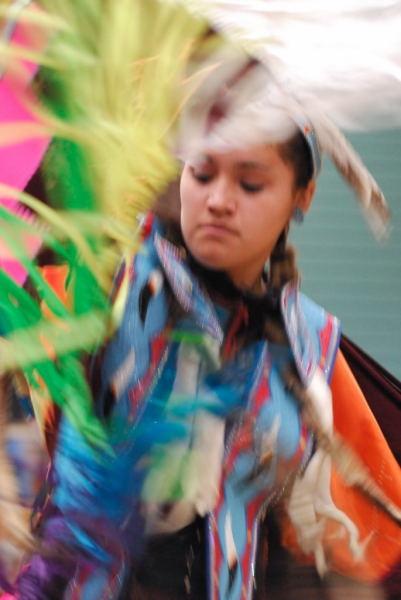 Girl dancer at Native Pow-Wow by DouglasMorley
