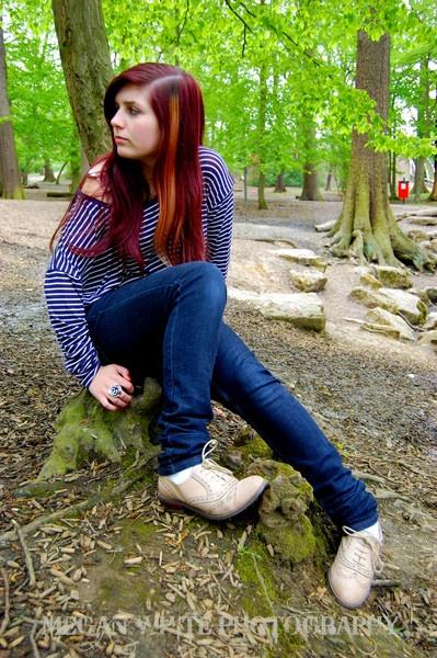 Elisa Rayfield forest shoot by Meganwhitephotography