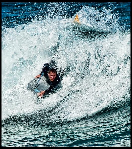 Body Board Surfer by QuinnyA