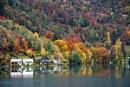 Lago d'Idro autumn view