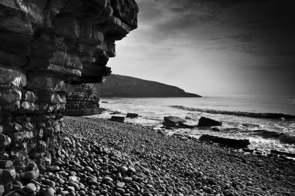 BW - Heritage coast by Henshall