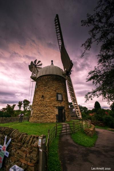 Heage Windmill on a pink sky day! by lesarnott