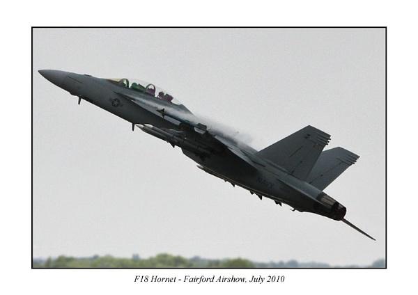 F18 Hornet Fairford Airshow 2010 by mogseyboy