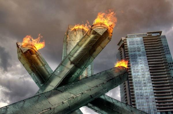 2010 Olympic Cauldron by delwestcoast
