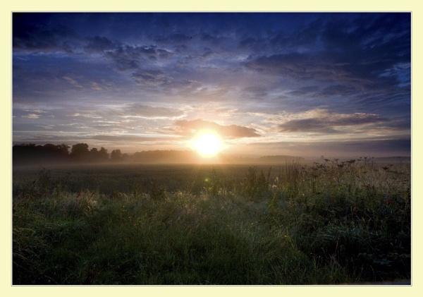 Misty Morning Sunrise by cabbie
