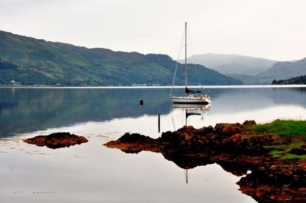 Reflection on Loch Duich by billmac57