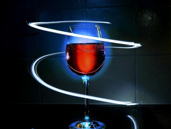 Glass of wine by RickyRossiter