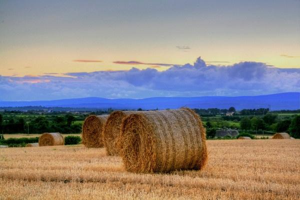 Straw, mountain,& Sunset by Beladd