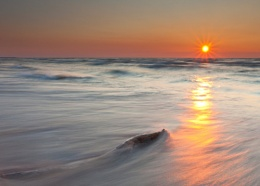 Wood, Beach and Sunset
