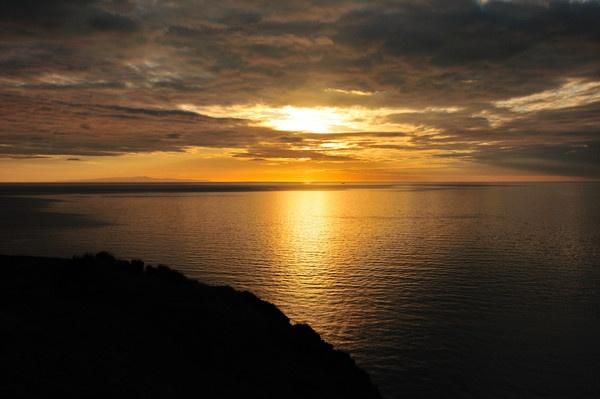 Sunset Across the Irish Sea by Dyker_1976