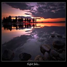 NIGHT FALLS...