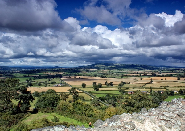 View from Montgomery Castle by IFIMAGE