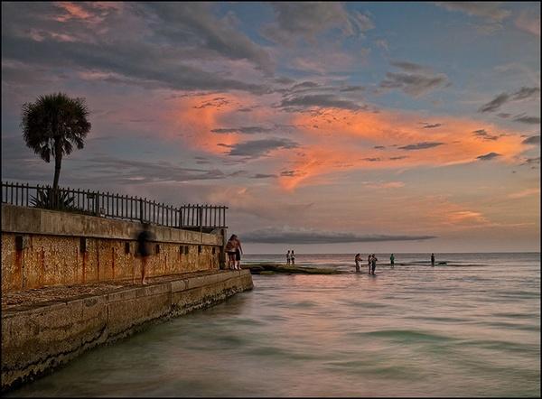 Sunset at Siesta Key by Strax