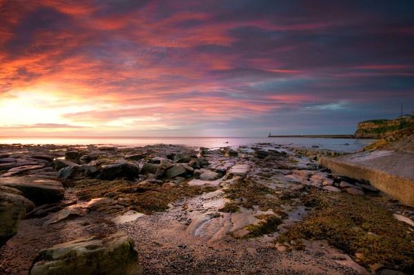 Sunday Sunrise At King Edwards Bay,Tynemouth by stevec85