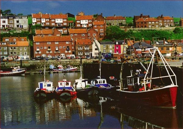 Whitby harbour by Mavis