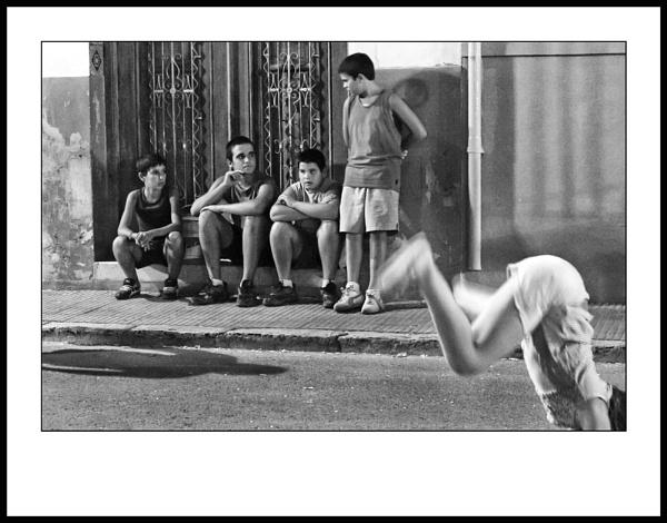 4 Boys & Cartwheeling Girl by jarendell