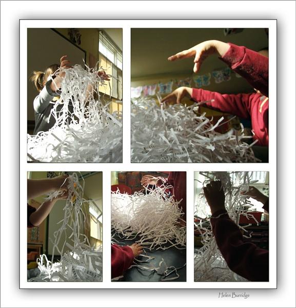 Shredded paper by helenlinda