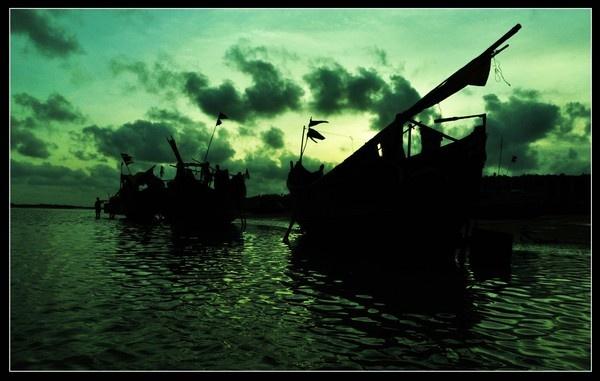 Fishing Boats by Ananda