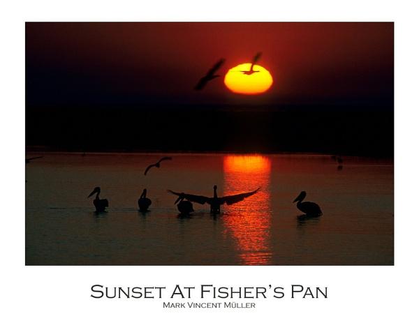 Sunset At Fisher\'s Pan by MarkVMueller