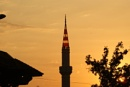 Mosque Tower at sunset