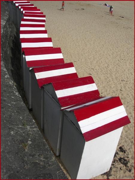 Beach Huts at Dinard by ChrisOs