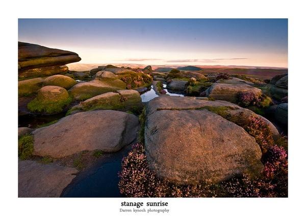 stanage sunrise by dazzaman