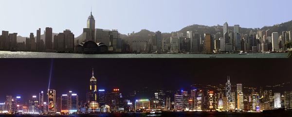 Hong Kong Night and Day by ianhooker