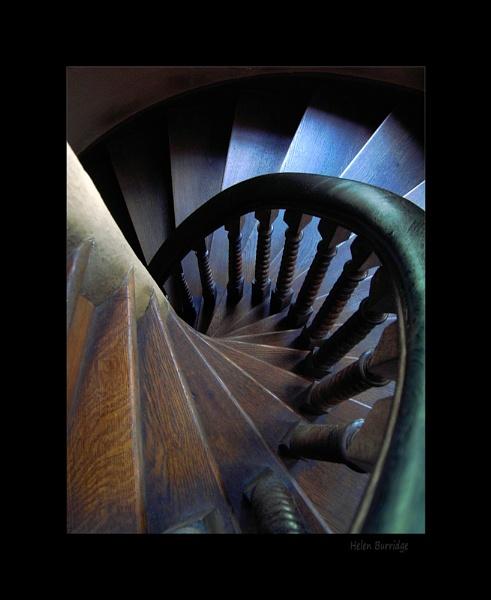 Spiral staircase- Warwick Castle by helenlinda