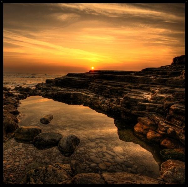 Rockpool Sunrise by mpphotographics