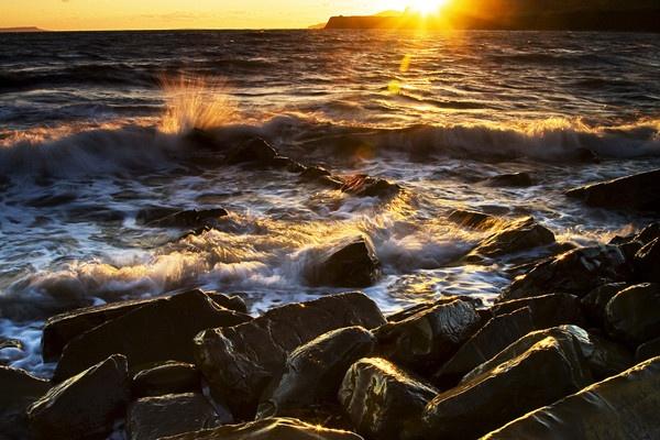 Kimmeridge Sunset by CarlSN