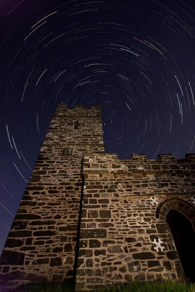 Brentor Church Startrails by joelrouse