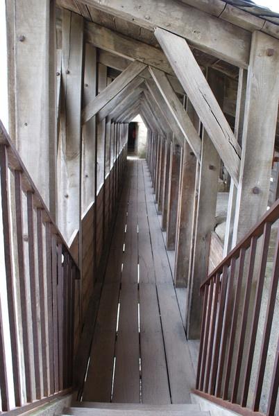 Walkway Carcassonne Castle. by taf1