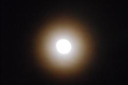 The moon at night